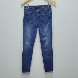 J. Crew toothpick size 26 jeans distressed
